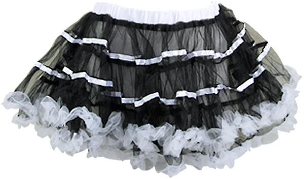 テープリボンカラーパニエ ブラック/ホワイト