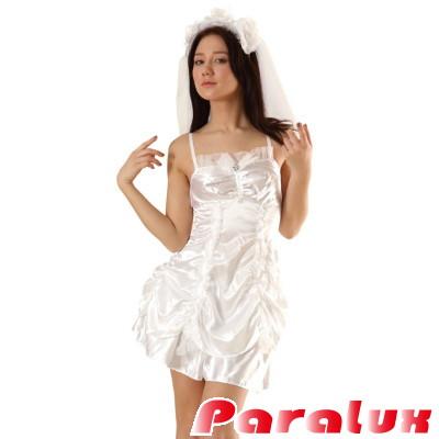 セクシーサテンウェディングドレス