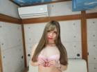 ◆むっちり長身モデル五月凛ちゃん下着上下セット(ピンク×花柄×白レース)◆