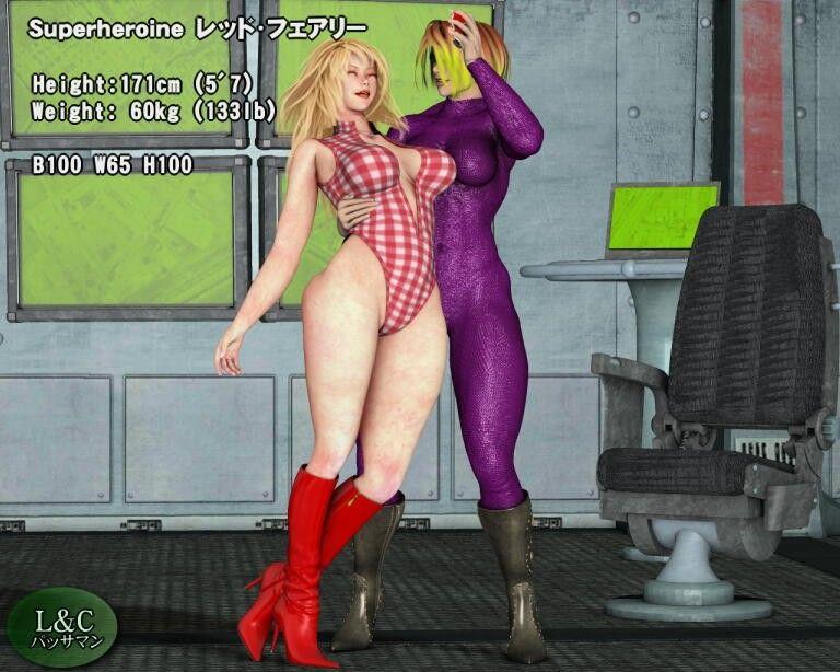 【女幹部 レズ】豊満グラマラスな巨乳の女幹部ヒロインのレズ交渉ペニバン放尿ハード辱めの同人エロ漫画。