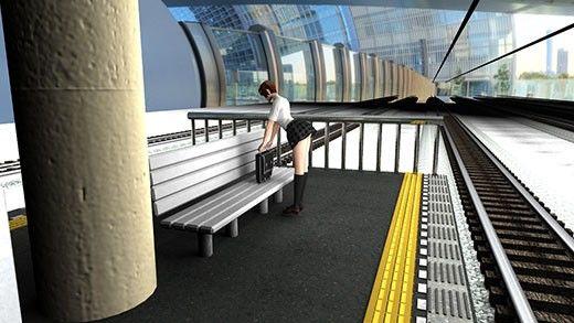 早朝の駅にて、何か荷物を前屈みで探している激ミニちゃんの無防備なお尻を後ろから盗撮したパンチラ動画(ノーパン編)