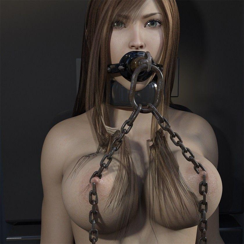 【キンク文庫 同人】SF器具に拘束され、蛇口浣腸・レーザー調教されるムチムチ巨乳美女