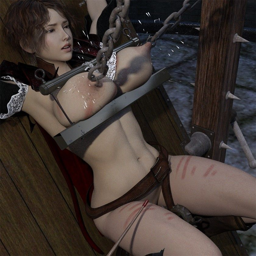 【キンク文庫 同人】磔浣腸の女騎士