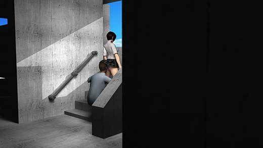 人通りの無い校舎の裏で新人体育教師と不純異性交遊に及んでいる激ミニちゃんに遭遇!スカート内に頭を...のサンプル画像1