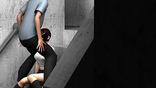 人通りの無い校舎の裏で新人体育教師と不純異性交遊に及んでいる激ミニちゃんに遭遇!どんどんエスカレ...のサンプル画像2