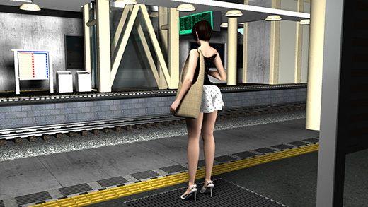 駅で遭遇した超絶劇ミニフレアスカート女子大生?が地下鉄の通風口の上に無防備にも仁王立ちだったので風チラを目当てに待っていたら案の定思いっきりパンチラした件。