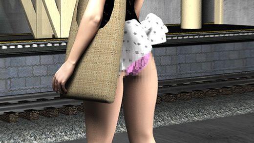 駅で遭遇した超絶劇ミニフレアスカート女子大生?が地下鉄の通風口の上に無防備にも仁王立ちだったので...のサンプル画像3