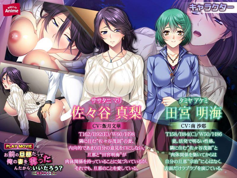 【WorldPG Anime 同人】お前の旦那だって俺の妻を奪ったんだから、いいだろう?~復讐のネトリPLAYMOVIE