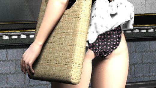 (PV:黒地にハート柄のパンティ編)駅で遭遇した超絶劇ミニフレアスカート女子大生?が地下鉄の通風口の...のサンプル画像1
