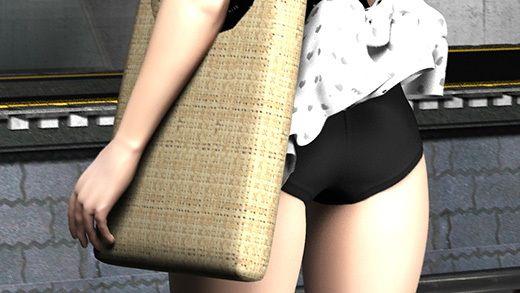 (PV:残念スカパン履いてました編)駅で遭遇した超絶劇ミニフレアスカート女子大生?が地下鉄の通風口の...のサンプル画像1