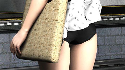 (PV:残念スカパン履いてました編)駅で遭遇した超絶劇ミニフレアスカート女子大生?が地下鉄の通風口の...のサンプル画像2