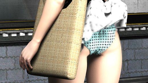 (PV:水色水玉パンティ編)駅で遭遇した超絶劇ミニフレアスカート女子大生?が地下鉄の通風口の上に無防...のサンプル画像1