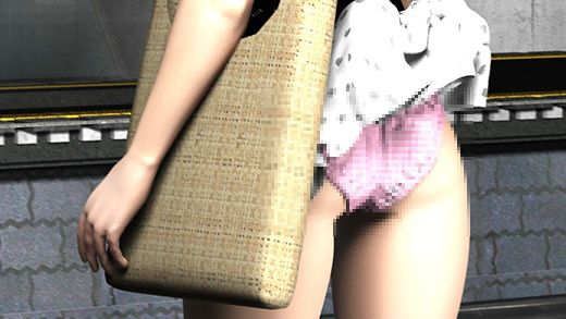 (PV:ピンク色のチェック柄パンティ編)駅で遭遇した超絶劇ミニフレアスカート女子大生?が地下鉄の通風...のサンプル画像1