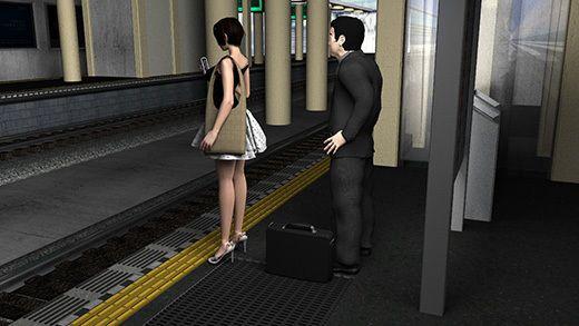 (第三者・犯人・戦利品の三点セット)ガラガラの駅で超ミニスカートの女子大生(?)の真後ろに陣取っ...のサンプル画像2