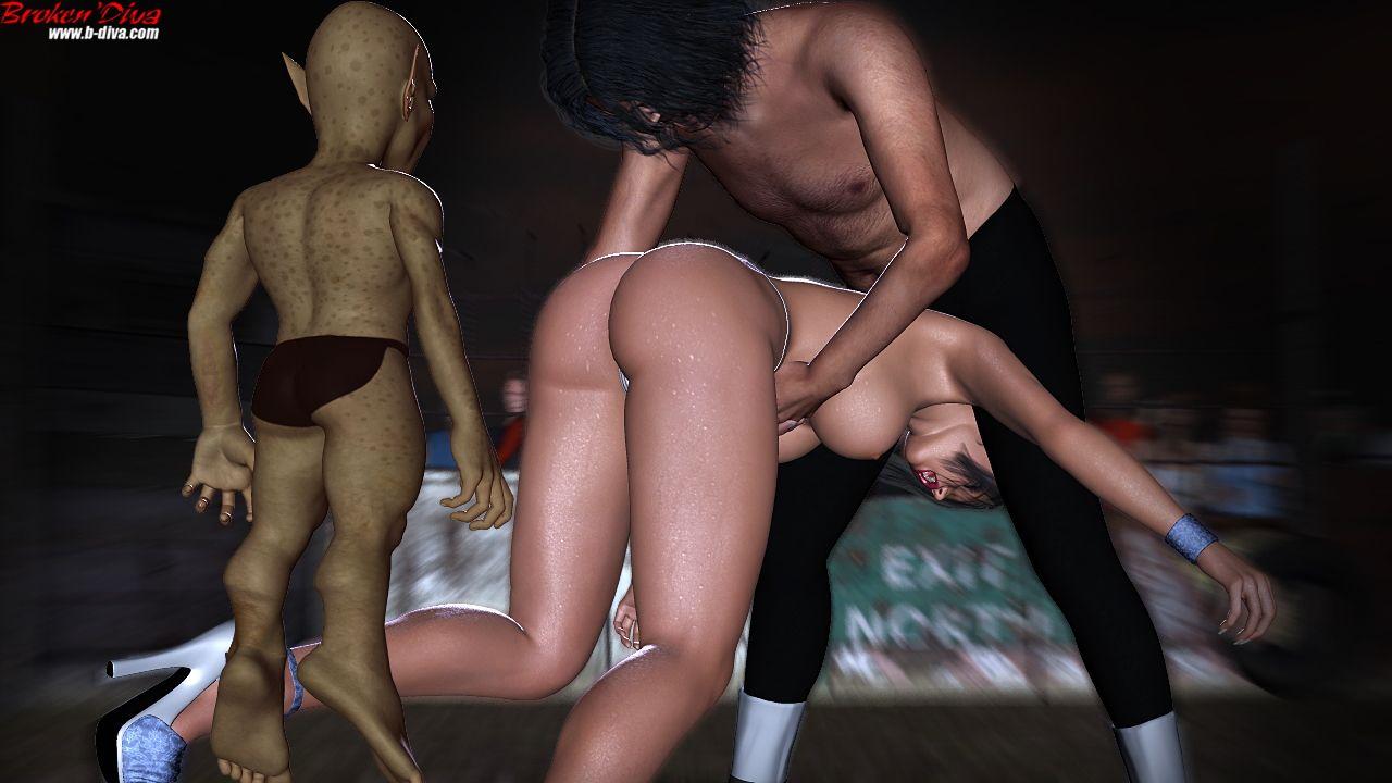 闘う性犯罪者タンクvsアンナ 画像集