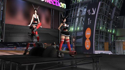ゲームショウの1セッションで「編隊これくしょん」の陸奥(りくおく)のコスプレ女子として登場した激ミ...のサンプル画像3