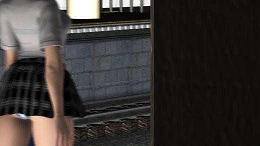超巨乳&ミニスカートの女子学生。最初はプルンプルンの乳揺れに目を奪われたのだがほぼ丸見えのお尻と...のサンプル画像2