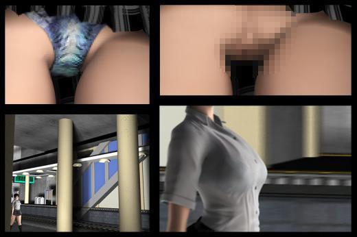 超巨乳&ミニスカートの女子学生。最初はプルンプルンの乳揺れに目を奪われたのだがほぼ丸見えのお尻と...のサンプル画像3