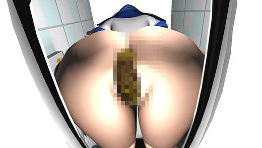 セーラー○ーンのコスプレ女子の脱糞・放尿シーンを盗撮!水が流れないように細工を仕掛けられた洋式トイ...のサンプル画像1