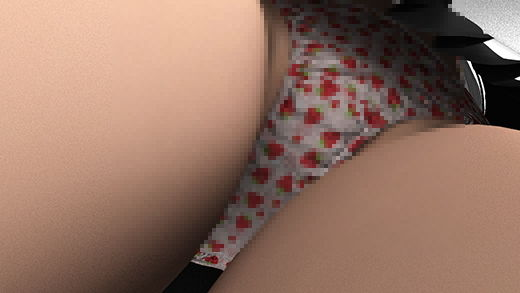 早朝の電車内で通学中とおぼしき超・スカートの短い女子学生に遭遇。勃起に気付かれないかと思うくらい...のサンプル画像1