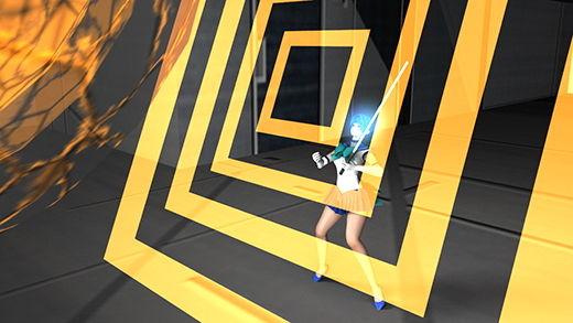 美少女ファイターセーラーアースとして戦う激ミニちゃん。都内上空に空中要塞が突如現れると共に激増し...のサンプル画像3