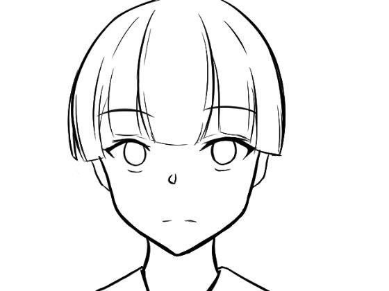 顔の線画7