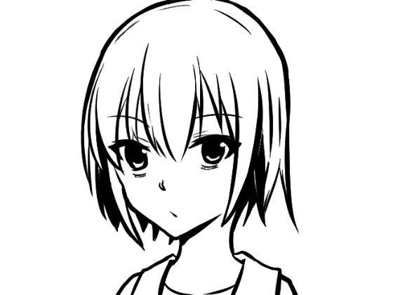 顔の線画8