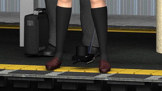 自撮り棒とズーム・高解像度撮影に対応したコンデジを組み合わせた最低の盗撮師。白昼堂々、駅のホームでミニスカートの女子学生のスカートの真下にカメラを差し込み、最高のズームでパンティの縫い目まで分かるような動画を撮っていた!(黒い下着編)