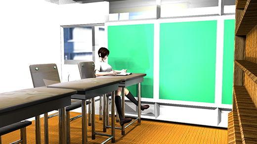 図書室で自習するつもりがうたた寝しちゃっている生徒会長(激ミニちゃん)椅子に座るナマ脚がぱっくり開いていたので、美味しいパンチラを前からじっくり見せて頂いちゃった件(緑色の大人びたパンティ編)