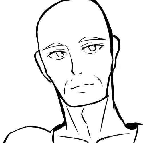 顔の線画10