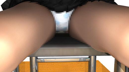 図書室で自習するつもりがうたた寝しちゃっている生徒会長(激ミニちゃん)椅子に座るナマ脚がぱっくり開いていたので、美味しいパンチラを前からじっくり見せて頂いちゃった件(白い水玉パンティ編)