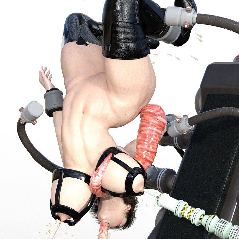 筋肉巨乳美女空中遊戯