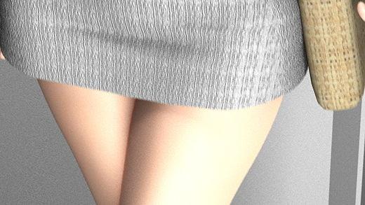 電車内で見かけた超絶タイトマイクロミニスカートの女子大生?風の女の子。少し仰角でカメラを構えるとすぐにパンツが見えてしまうほどのスカートの短さだったのでナマ脚と股間を舐め回すように盗撮しまくった件。
