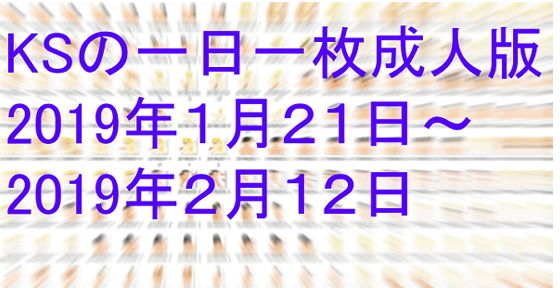KSの一日一枚成人版2019年1月21日~2月12日