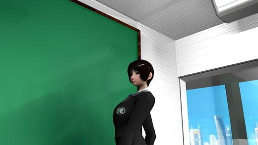 『学校の教育レベルの向上は生徒会長の責務』と捉えて、自ら学業に余念がなく、試験期間に入ると周囲への教授指導にも積極的な激ミニちゃん。しかし、素行不良の連中に周到なパンチラ盗撮計画を立てられ、責任感を利用されてスカート内を撮られた彼女。(PV02:緑色のサテン地パンティ編)