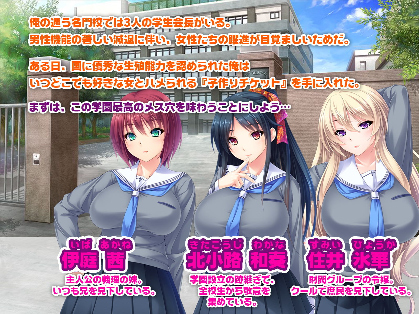 ハメハメ種付け学園 〜合法チ●ポで生意気娘を完全征服!〜