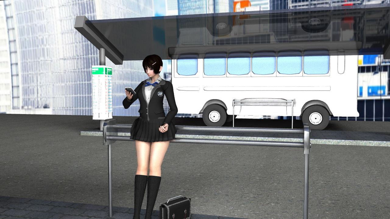 早朝のバス停で鬼のようなスカートの短さの女子学生さんを発見!座っている椅子の形状的に後ろから見れば絶対にパンティが見えると確信したのでさりげなく近付いて仰角アングルでナマ脚とパンツを盗撮しまくった。(PV:Tバックパンティ盗撮戦利品FullHD編)