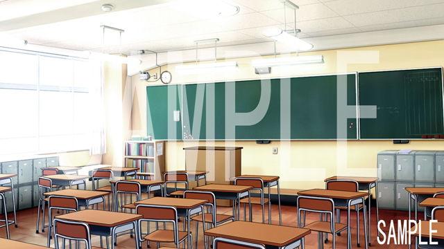 「学校の背景が全てそろう01」完全フリー素材集!!