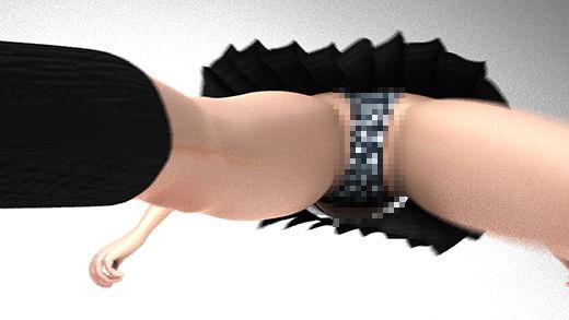今度の仕事はゲーセンのダンスゲームの耐久性試験!マシンに乗って踊るも床に仕掛けられた隠しカメラによってスカート内のパンティを見事に真下から盗撮されてしまった激ミニちゃん。ぷるぷる揺れるフトモモと尻肉がエロ過ぎる件(PV05:サテン黒地ハート柄パンティ編)
