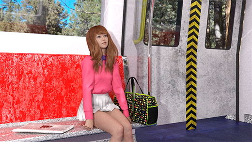 御手洗保守(みたらいやすもり)の盗撮稼業シリーズ:002 電車の中で見かけた女子大生風の超絶ミニスカギャル!座って居眠りを始めてオマタが開いたのでパンツを撮り、階段でも真後ろからバッチリ盗撮した彼女のスカートの中。