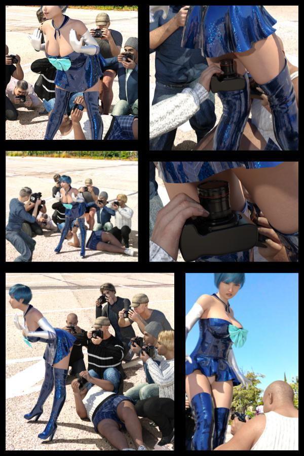 【△100】『理想の彼女を3DCGで作ります』から生まれたバーチャルアイドル「桜庭瑠華(さくらばるか)」の写真集:Luca-Cos006(ルカコス006)レイヤー逆さ撮りパンチラカメコ地獄編ゲヘ声Movie+