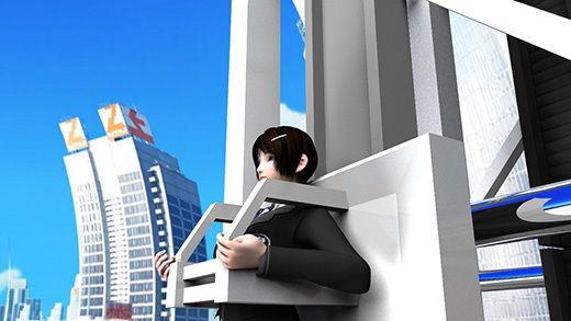 【△100】世界最高峰というビルの上に建造されたフリーフォール『リビドータワー』の試乗に呼ばれた激ミニちゃん(れっきとした仕事)絶叫系の乗り物は得意なつもりだったが、標高800メートルから一気に自由落下というトンデモなアトラクションに文字通り絶叫パンチラ(笑)(PV:青色チェック柄パンティ編)