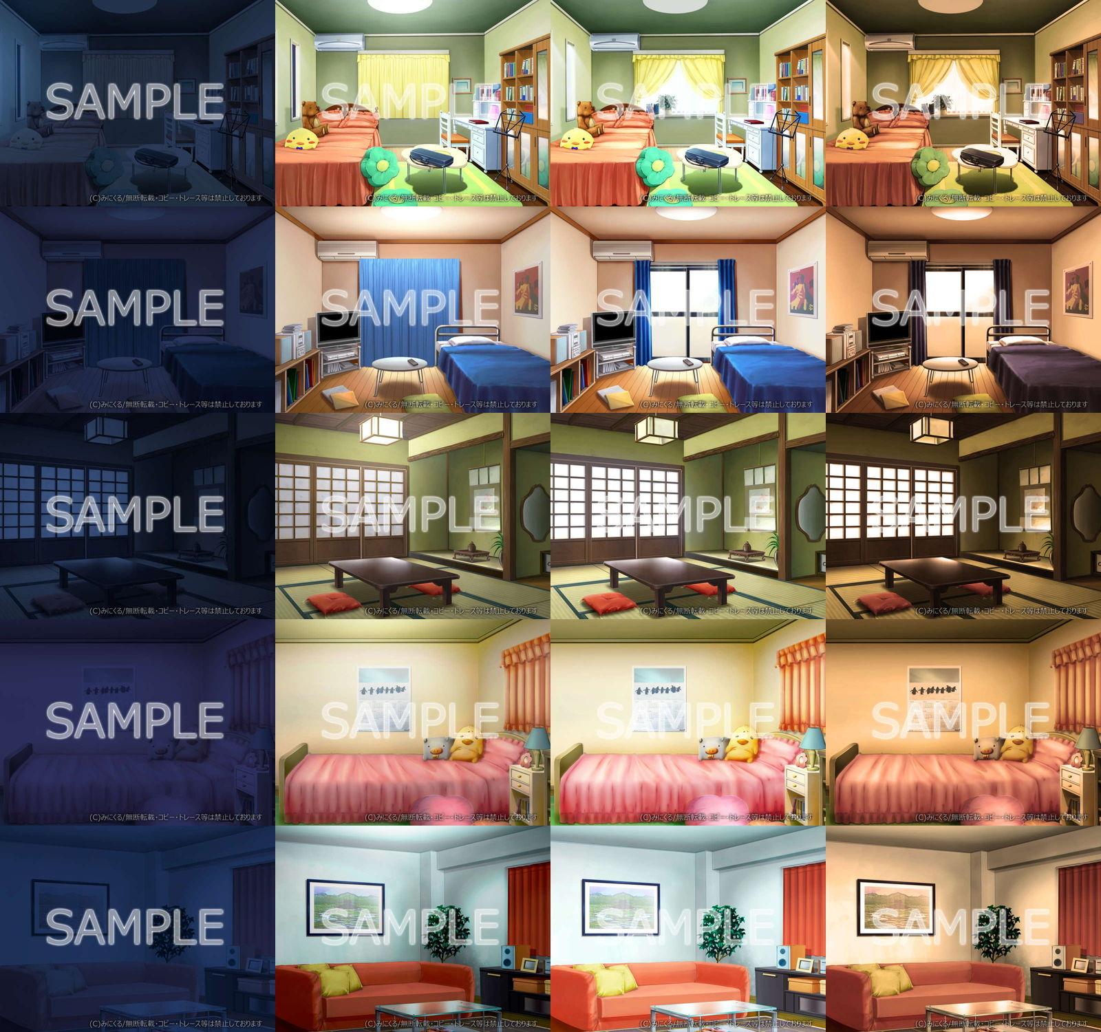 サンプル画像1:みにくる背景CG素材集『日常編』part03&04(背景専門店みにくる) [d_196646]