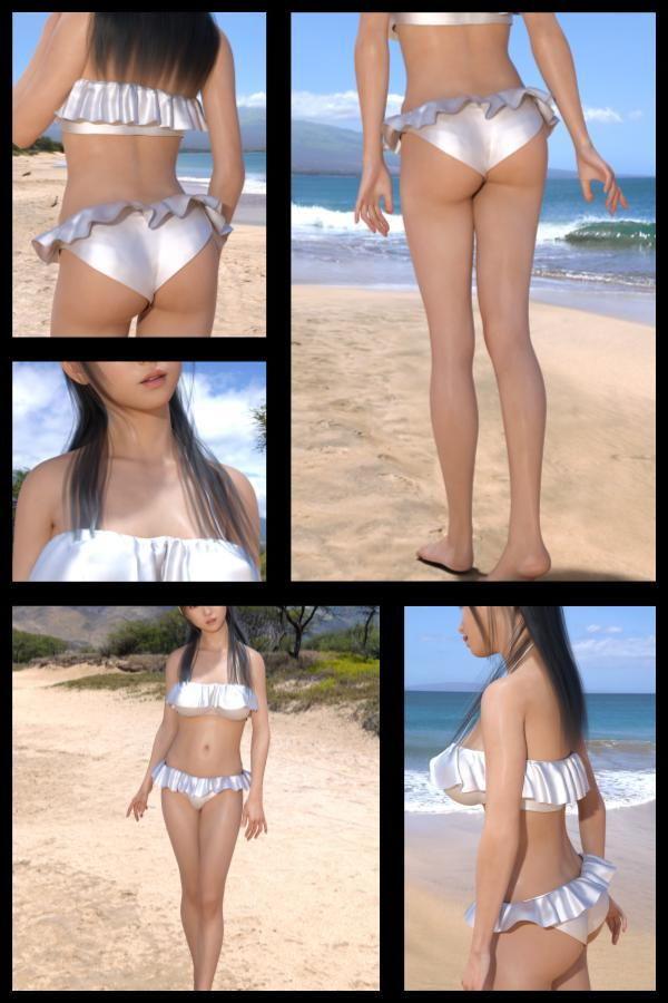 【TD・All】『理想の彼女を3DCGで作ります』から生まれたバーチャルアイドル「戸坂藍子」の写真集:Aiko-01(あいこ01)