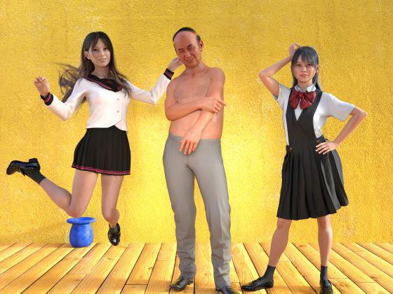 前編 姉妹3P 美人姉妹とゲス義父