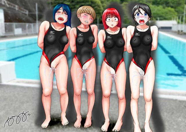 競泳水着集団凌●・穢されたメドレーリレー