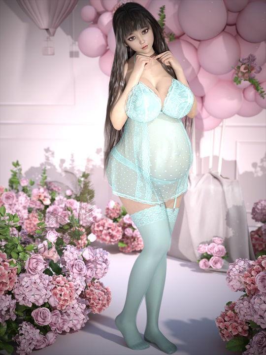 臨月妊婦ベビードール&テディコレクション