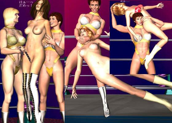 エロ同人作品「レズビアンLift&Carry Vol.14 メジャー団体vs地下プロレス 「もうギブアップしてんだから」」の無料サンプル画像
