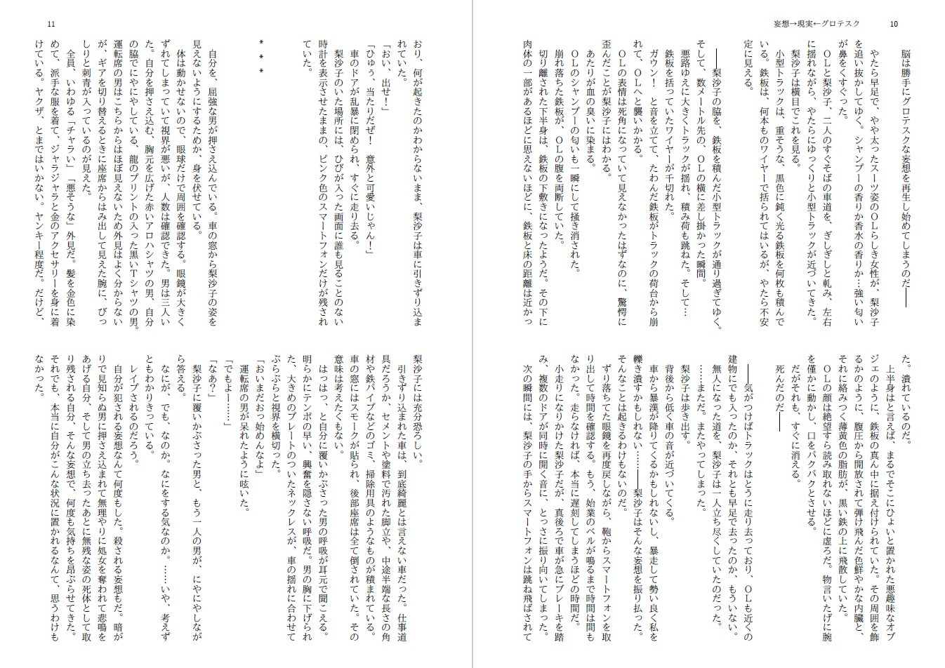 【*untitled* 同人】妄想→現実←グロテスク