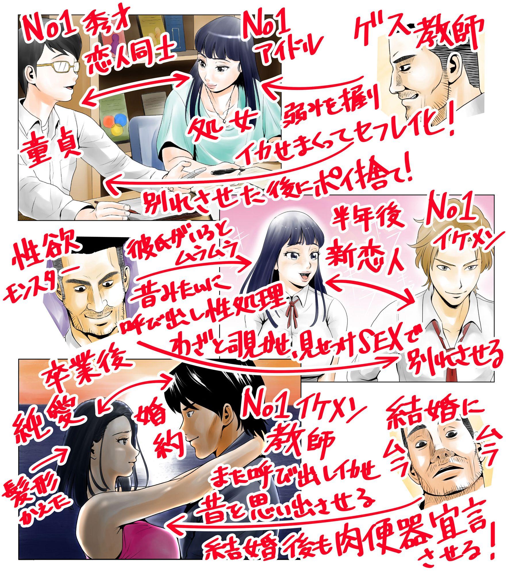 ごめんね、今日のデート行けなくなっちゃった。(元AV男優教師のキモ山先生改良版)のサンプル画像1